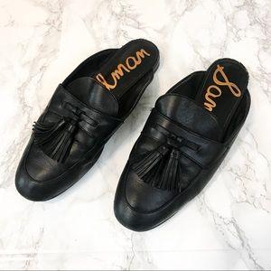SAM EDELMAN Paris Black Slip On Loafers